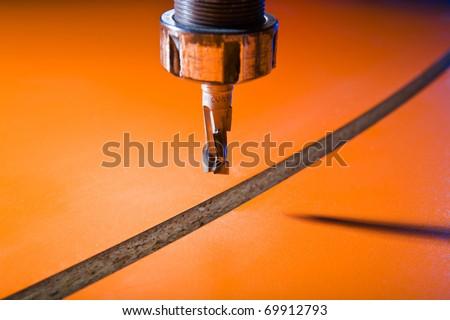 Milling-cutter closeup - stock photo