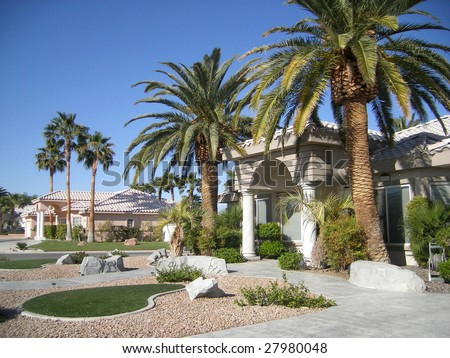 million dollar house in las vegas - stock photo