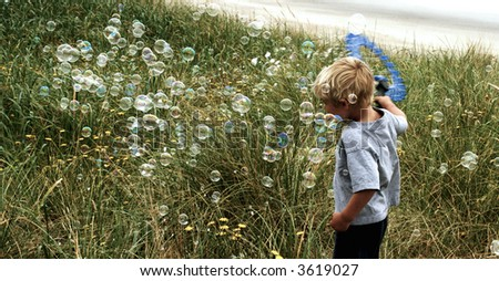 Millions of bubbles - stock photo