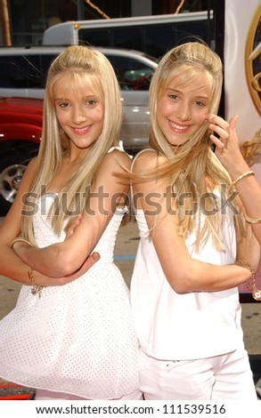 """Milly Rosso and Becky Rosso at the World Premiere of """"Nancy Drew"""". Grauman's Chinese Theatre, Hollywood, CA. 06-09-07 - stock photo"""