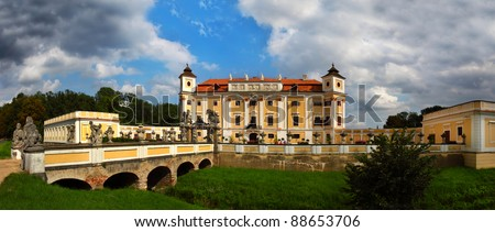 Milotice Castle (Chateau), Czech Republic - State castle - stock photo