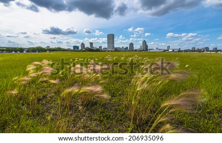 Milwaukee Wisconsin Downtown on a nice summer day - stock photo