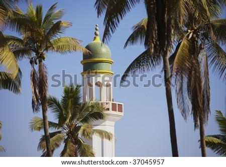 minarate of mosque, Oman - stock photo