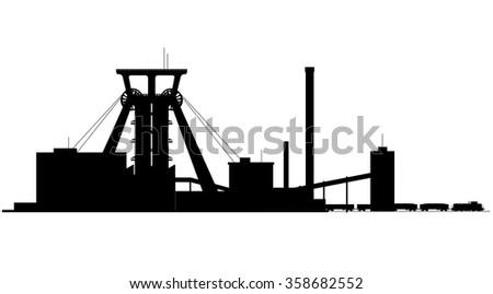Mine factory - stock photo