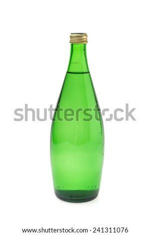 Mineral bottle water drink isolated on white background