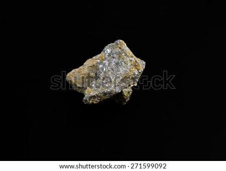 mineral Galena (silver snag) - stock photo