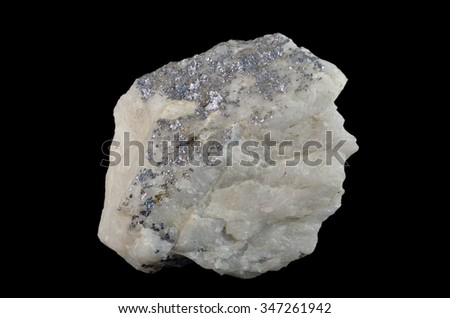 Mineral  Molybdenite - stock photo
