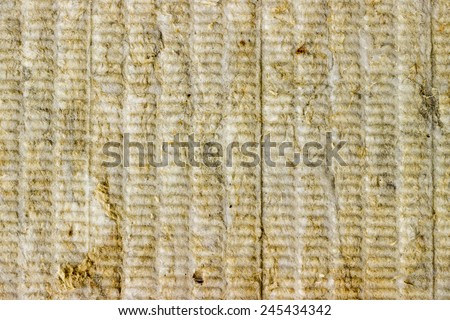 Mineral rockwool panel background, wall insulation background  - stock photo