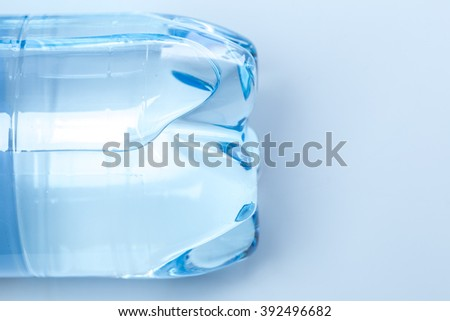 Mineral water bottle bottom - stock photo