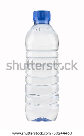 Mineral Water Bottle,PET,small,isolated with paths - stock photo