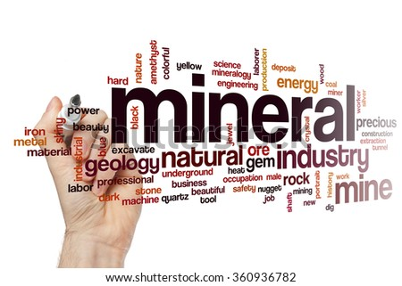 Mineral word cloud - stock photo
