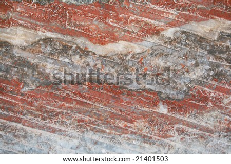 minerals background (wall of salt mine) - stock photo