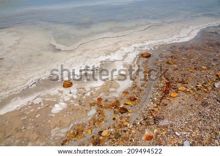 Minerals of Dead Sea - stock photo