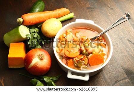 minestrone - stock photo