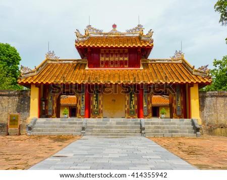 Minh Mang Tomb (UNESCO) in Hue, Vietnam - stock photo