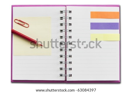 mini blank notebook as white isolate background - stock photo