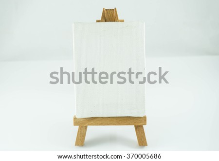 MIni canvas with isolated background.