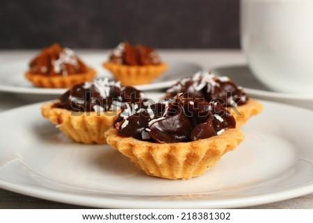 Mini Chocolate Tart - stock photo