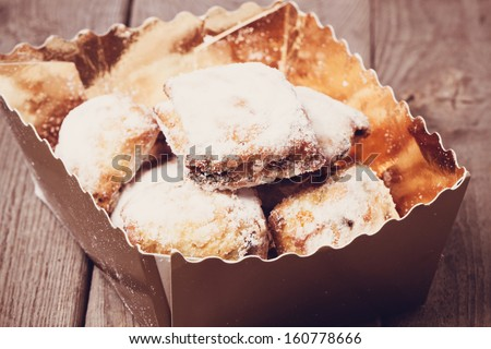 Mini chritstmas stollen - stock photo