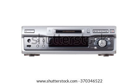 Mini-Disc player, isolated on a white background - stock photo