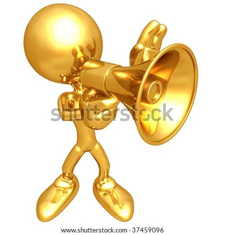 Mini Gold Guy - stock photo