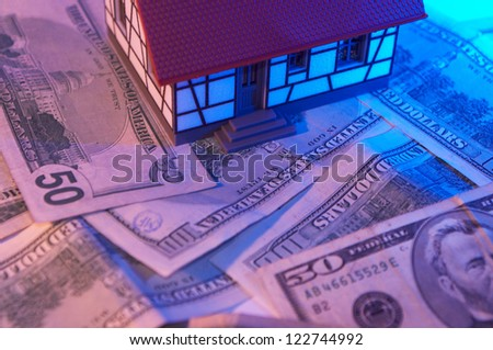 mini house model for real estate concept - stock photo