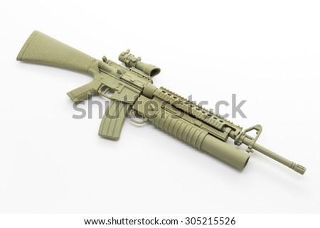mini model gun isolated on white background - stock photo