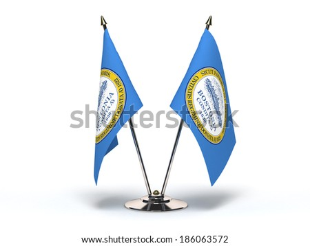 Miniature Flag of Boston Massachusetts (Isolated with clipping path) - stock photo