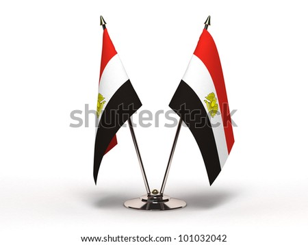 Miniature Flag of Egypt (Isolated with clipping path) - stock photo