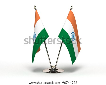 Miniature Flag of India - stock photo