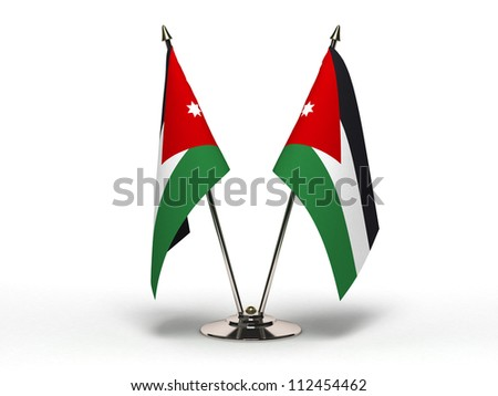 Miniature Flag of Jordan  (Isolated with clipping path) - stock photo