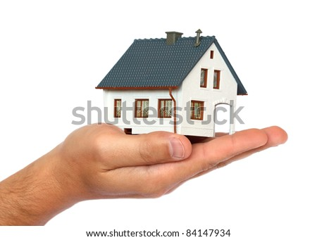 miniature house on hand