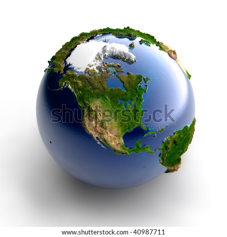 Miniature real Earth