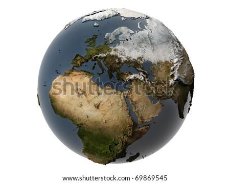 Miniature real Earth - stock photo