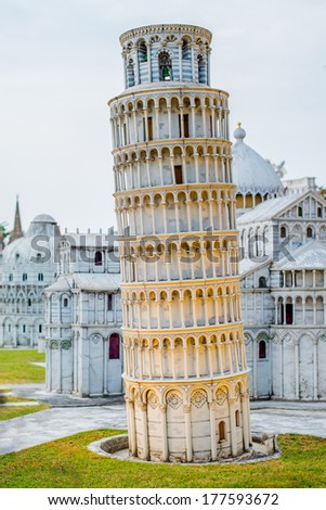 Miniature replicas of Europe and the world attractions - stock photo