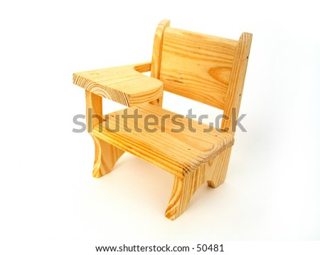 Miniature Wooden Student Desk.