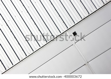 Minimal Abstract. Simple  architectural design and detail seen in an industrial estate of warehouses