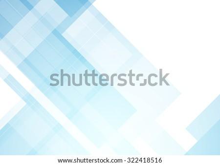 Minimal blue light tech abstract background - stock photo