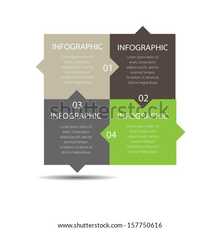 Minimal infographics. - stock photo