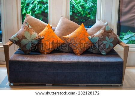 Minimal living room with sofa  - stock photo