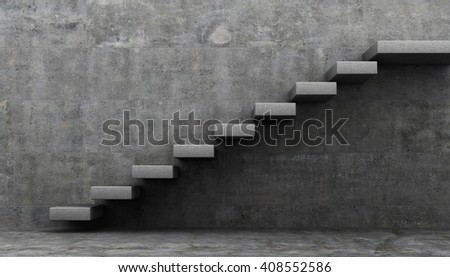 minimalism style stairs. 3D rendering