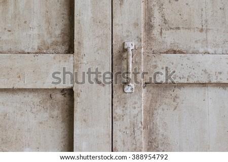 Minimalism style, Wood classic window pane - stock photo
