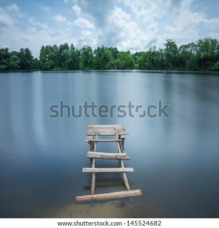 Minimalist landscape - stock photo