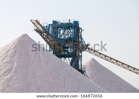 mining industry for the salt extraction - stock photo