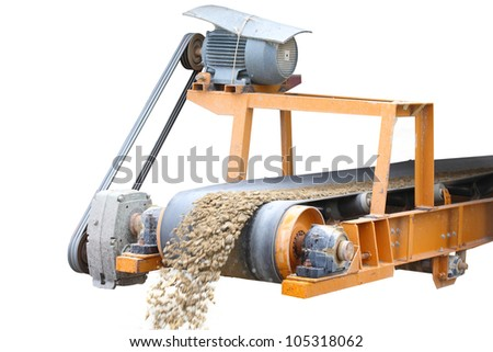 mining industry in Thailand in white background - stock photo