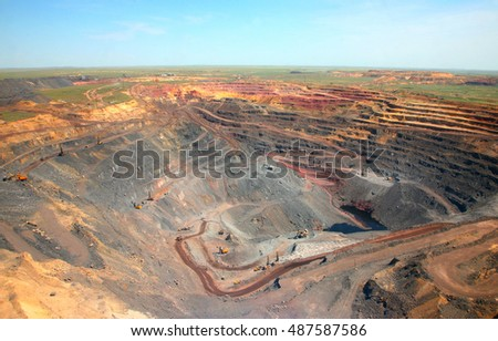 mining production. general view of the mine