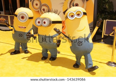"Minions at the ""Despicable Me 2"" Los Angeles Premiere, Universal Citiwalk, Universal City, CA 06-22-13"