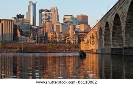 Minneapolis. City of Minneapolis in the morning - stock photo