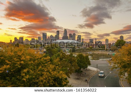 Minneapolis Skyline  - stock photo