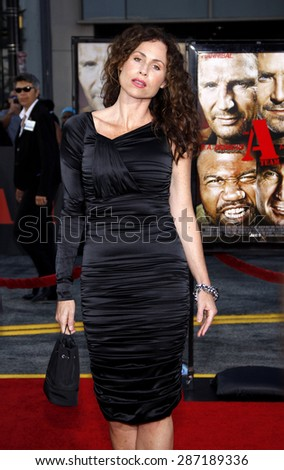 Minnie Driver at the Los Angeles premiere of 'The A-Team' held at the Grauman's Chinese Theater in Hollywood on June 3, 2010.  - stock photo